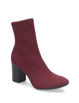 Meggs Block Heel Knit Sock Booties by Born