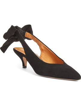 Bow Kitten Heel Pump by Ganni
