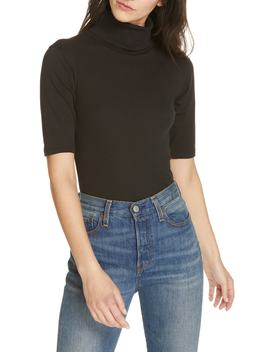 Sunshine Cowl Neck Stretch Cotton Tee by Free People