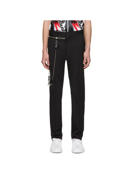 Black Wool Chain Hockey Trousers by Dsquared2