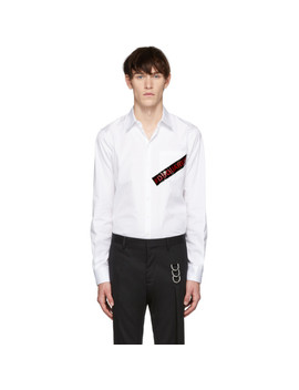 White Punk Logo Tape Carpenter Shirt by Dsquared2