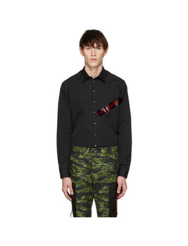 Black Punk Logo Tape Carpenter Shirt by Dsquared2