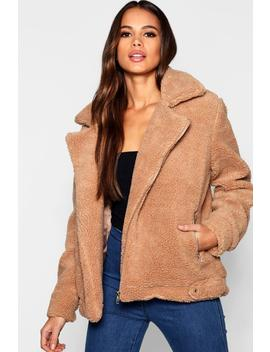 Tall Teddy Faux Fur Aviator by Boohoo