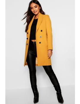 Petite Double Breasted Duster Coat by Boohoo
