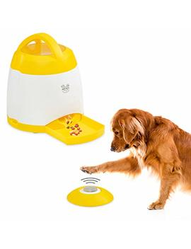 Arf Pets Dog Treat Dispenser – Dog Puzzle Memory Training Activity Toy – Treat While Train, Promotes Exercise By Rewarding Your Dog, Cat, Improves Memory & Positive Training For A Healthier & Happier by Arf Pets