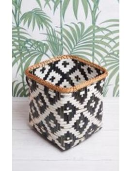 Sass And Belle Small Tribal Pattern Bamboo Storage Basket by Prettylittlething