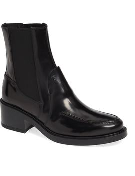 Block Heel Ankle Boot by Tod's
