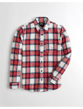 Slim Fit Plaid Flannel Shirt by Hollister