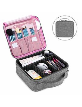 Makeup Bag Travel Cosmetic Bag For Women Nylon Cute Makeup Case Large Professional Cosmetic Train Case Organizer With Adjustable Dividers For... by Nice Ebag