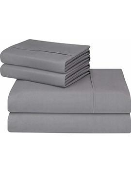 Utopia Bedding Soft Brushed Microfiber Wrinkle Fade And Stain Resistant 4 Piece King Bed Sheet Set   Grey by Utopia Bedding