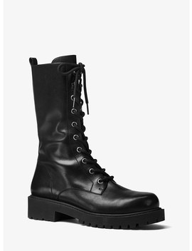 Brenna Calf Leather Combat Boot by Michael Kors Collection