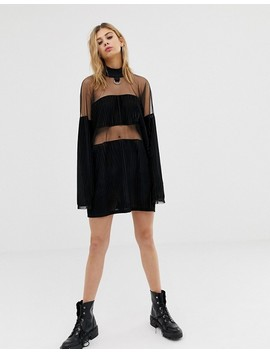 The Ragged Priest Velvet And Mesh Mini Dress by The Ragged Priest