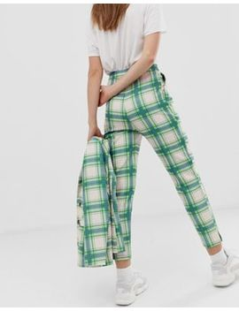 Asos Design Slim Suit Pants In Printed Check by Asos Design