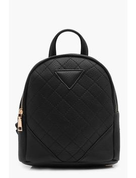 Quilted Mini Rucksack by Boohoo