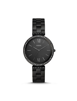 Madeline Three Hand Black Stainless Steel Watch by Fossil