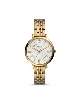 Jaqueline Three Hand Antique Gold Tone Stainless Steel Watch by Fossil