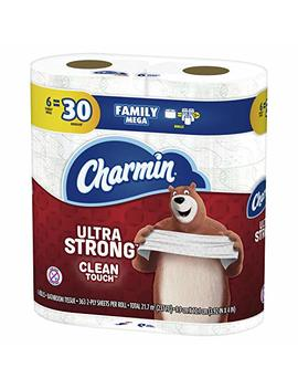 Charmin Ultra Strong Clean Touch Toilet Paper, Family Mega Roll, 6 Count by Charmin