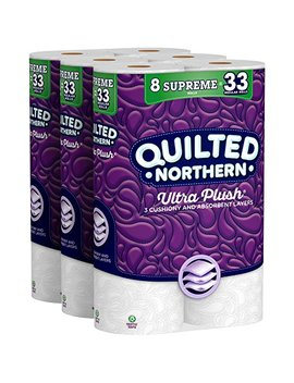 Quilted Northern Ultra Plush Toilet Paper, 24 Supreme Rolls, 24 = 99 Regular Rolls, 3 Ply Bath Tissue, 3 Packs Of 8 Rolls by Quilted Northern