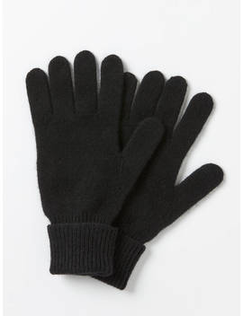 John Lewis & Partners Cashmere Gloves, Black by John Lewis & Partners