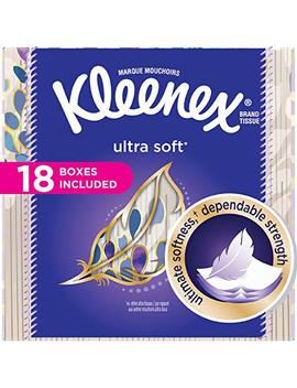 Kleenex Ultra Soft Facial Tissues; 75 Tissues Per Cube Box; 18 Count by Kleenex