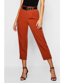 Woven Tailored Slim Fit Crop Trouser by Boohoo