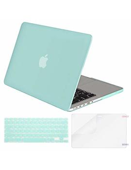 Mosiso Plastic Hard Case Shell & Keyboard Cover & Screen Protector Only Compatible [Previous Generation] Mac Book Pro (No Usb C) Retina 15 Inch (Model: A1398) (No Cd Rom), Mint Green by Mosiso