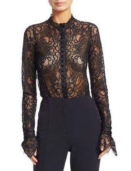 Lace Flare Cuff Bodysuit by Jonathan Simkhai