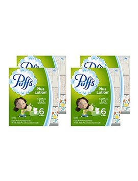 Puffs Plus Lotion Facial Tissues, 24 Family Boxes, 124 Tissues Per Box (Packaging May Vary) by Puffs