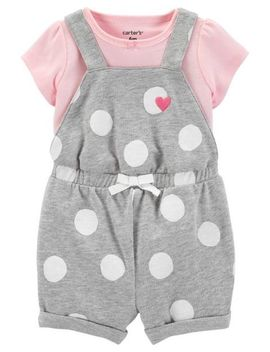 2 Piece Tee & Polka Dot Shortalls Set by Carter's