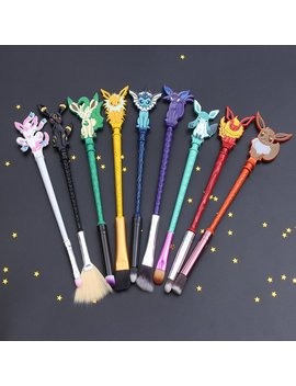 Free Shipping 9pc Eeveelution Pokemon Makeup Brush Set, Eevee, Pokemon Go, Eyeshadow, Lipstick, Concealer, Beauty by Etsy