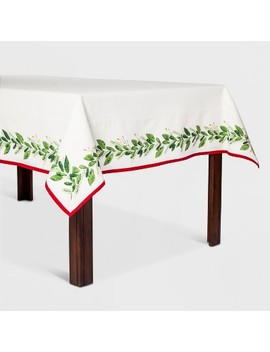 Botanical Border Tablecloth Cream/Green   Threshold™ by Threshold