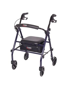 Carex Steel Rollator Walker With Seat And Wheels, Includes Back Support, Rolling Walker For Seniors by Carex