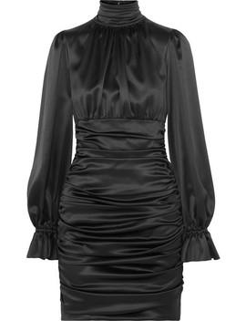 Ruched Silk Satin Mini Dress by Dolce & Gabbana