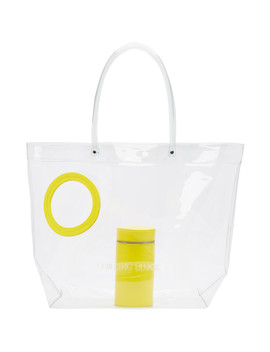 Ssense Exclusive Yellow Transparent Vinyl Peephole Tote by Building Block