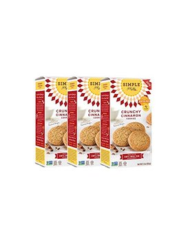 Simple Mills Crunchy Cookies, Cinnamon, Naturally Gluten Free, 5.5 Oz, 3 Count by Simple Mills