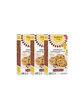 Simple Mills Crunchy Cookies, Chocolate Chip, Naturally Gluten Free, 5.5 Oz, 3 Count by Simple Mills