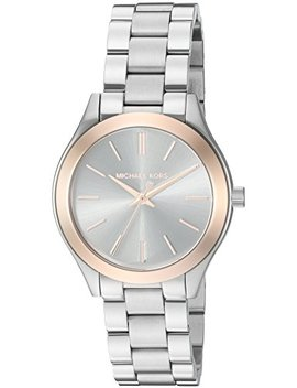 Michael Kors Women's Mini Slim Runway Silver Tone Watch Mk3514 by Michael Kors