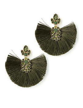 Glam Fringe Earrings by Simons