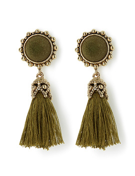 Olive Vintage Earrings by Simons