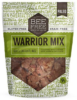 Bee Free Warrior Mix Granola | Gluten Free, Grain Free, & Paleo, Clay's Chocolate Buzz, 9 Ounce Bag by Bee Free