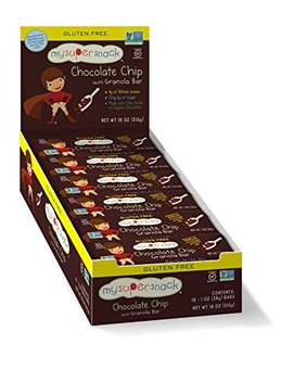 My Super Snacks, Granola Bars (Chocolate Chip, 18 Count) by My Super Foods
