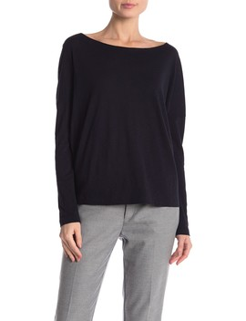 Boatneck Dolman Long Sleeve Tee by Vince