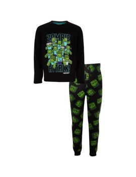 Boys Minecraft Printed Pyjama Outfit by River Island