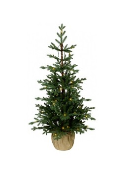 4ft Prelit Artificial Christmas Tree Potted Balsam Fir Slim Warm White Led Lights   Wondershop™ by Wondershop