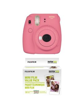 Fujifilm Instax Mini 9 Instant Camera   Flamingo Pink With Value Pack   60 Images by Fujifilm