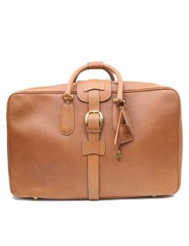 Authentic Gucci Travel Bag  Light Brown Leather 172509 by Gucci