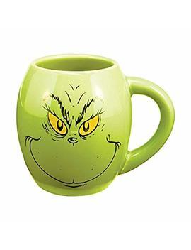 Vandor 52878 Grinch, Oval Ceramic Mug, Green, 18 Ounce by Jannik