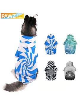 Dog Hoodie 3 D Printed Winter Warm Pet Sweatshirt With Leash Hole Pet Dog Clothes Cat Coat Jacket Puppy Large Dog Apparel S 6 Xl by Pawz Road