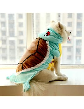 Funny Halloween Pet Cat Dog Turtle Costume Big Dog Puppy Cotton Padded Jacket Coat Golden Retriever Large Dog Hoodie Clothes by Petcircle