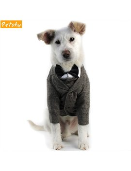 Petshy Dog Clothes Pet Coat Jackets Small Medium Dogs Cats Wedding Party Suits Gentleman Cachorro Mascotas Puppy Vest Costume by Petshy